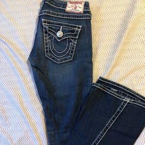 True Religion flared size 25 jean